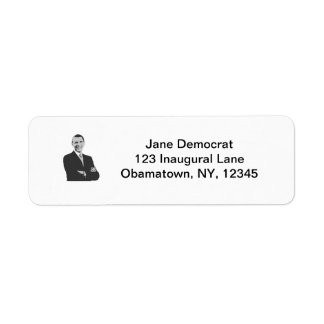 President Obama Return Address Label
