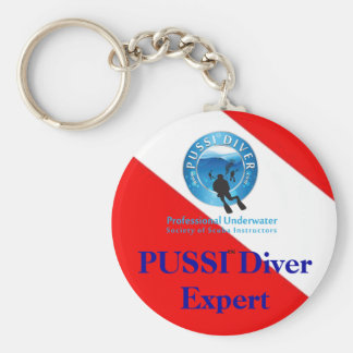 Press This PUSSI Button !!! Basic Round Button Key Ring