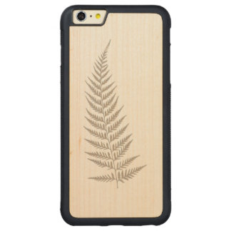 Pressed Botanical Fern Leaf - Mix and Match Color Carved® Maple iPhone 6 Plus Bumper Case