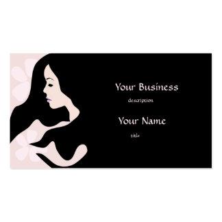 Pretty Beautiful Woman Beauty Business Card 2