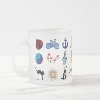 pretty girly design frosted glass mug