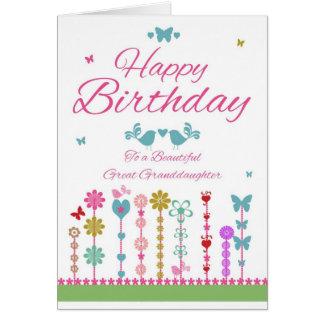 Pretty Great Granddaughter Birthday Cards