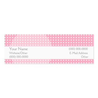 Pretty in Pink Pack Of Skinny Business Cards