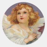 Pretty Little Angel Round Sticker