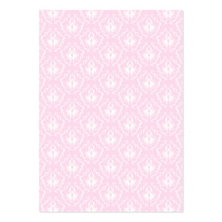 Pretty pale pink damask pattern with white. pack of chubby business cards