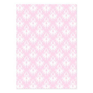 Pretty pink and white pattern. Damask. Pack Of Chubby Business Cards