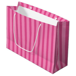 Pretty Pink Candy Stripe Gift Bag Large Gift Bag