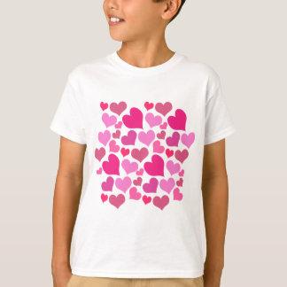 Pretty Pink Hearts Pattern Valentine's Day Tshirt