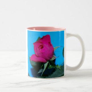 Pretty Pink Rose Two-Tone Mug