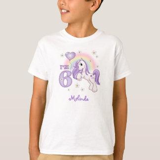 Pretty Pony 6th Birthday Personalized Tee Shirt