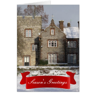 Pretty Snow Scene Season's Greetings Holiday Greeting Card