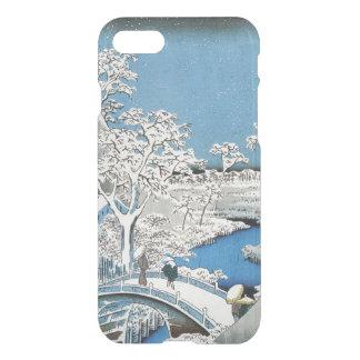 Pretty Vintage Asian Winter Scene Snow Bridge iPhone 7 Case