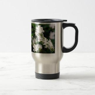 Pretty White Flowers Stainless Steel Travel Mug