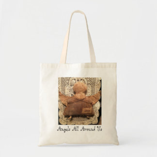Primitive Angels All Around Us Tote Bag