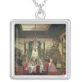 Princess Mathilde's Salle-a-Manger Square Pendant Necklace