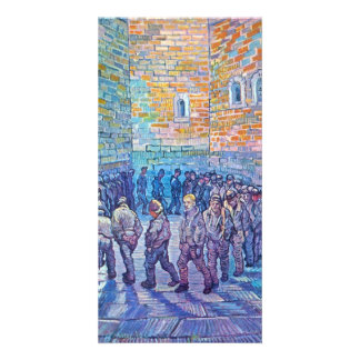 Prisoners walking the Round by Vincent van Gogh Picture Card