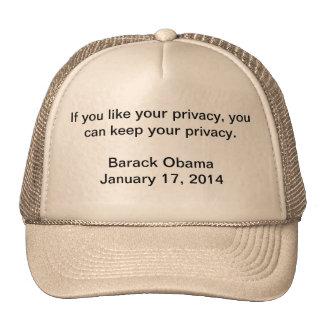 Privacy Barack Obama Cap