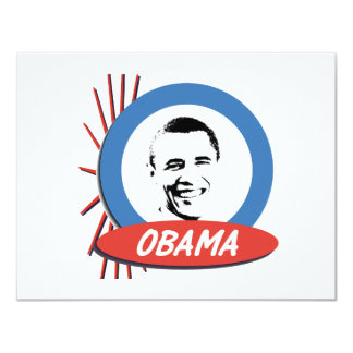 Pro-Obama Retro Gifts 11 Cm X 14 Cm Invitation Card