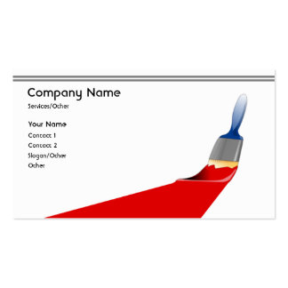 Pro Painter Pack Of Standard Business Cards