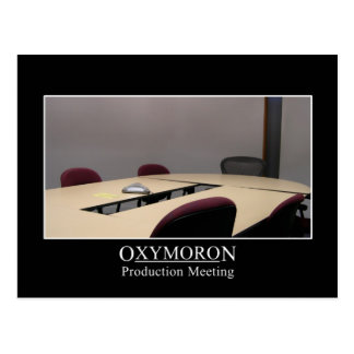 Productive meeting is an oxymoron postcard