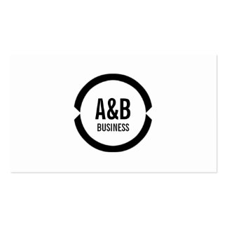 Professional Black Ring Architect Business Card
