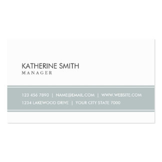 Professional Elegant Plain Simple Gray and White Pack Of Standard Business Cards