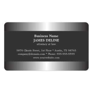 Professional Elegant Silver Metal Attorney Pack Of Standard Business Cards
