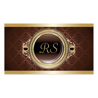 Professional Elegant Vintage Floral Monogram Gold Pack Of Standard Business Cards