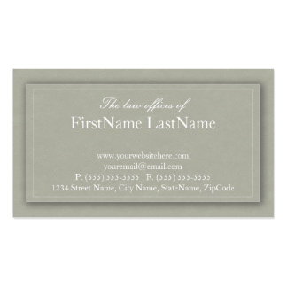 Professional Lawyer Business Cards in Beige