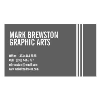 Professional Stripes Business Cards in Gray