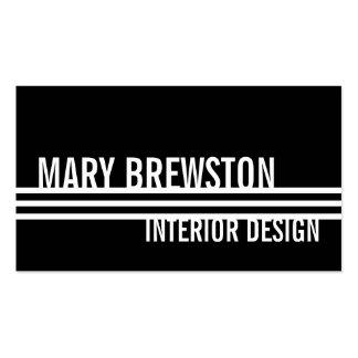 Professional Stripes Business Cards in Sleek Black