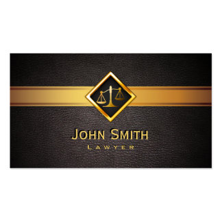 Professionl Gold Scale Lawyer/Attorney Pack Of Standard Business Cards