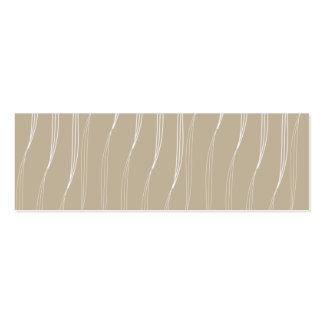 Profile card vanilla pud beige pack of skinny business cards