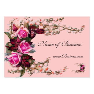 Profile Card Vintage Pink Roses Pack Of Chubby Business Cards