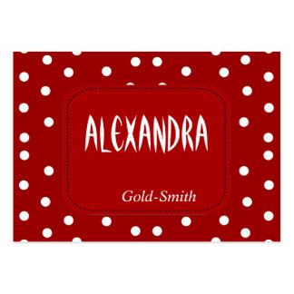 Profile Personal Name Card Retro Red White Spot Pack Of Chubby Business Cards