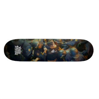 Protecting And Serving Painting Custom Skateboard