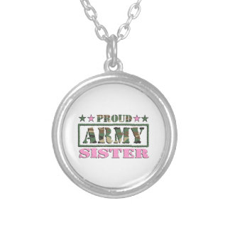 Proud Army Sister Necklace