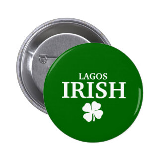 Proud Custom Lagos Irish City T-Shirt 6 Cm Round Badge