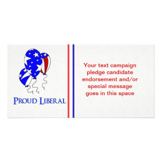 Proud Liberal Customised Photo Card