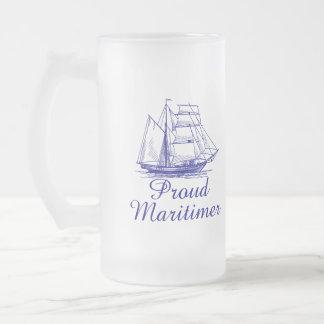 Proud Maritimer Nova Scotia Frosted beer mug