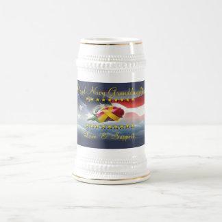 Proud Navy Granddaughter Beer Steins