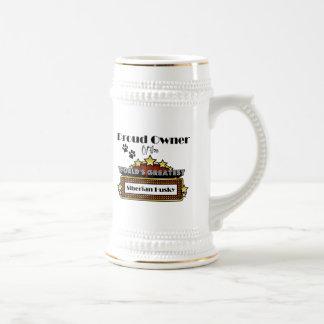 Proud Owner World's Greatest Siberian Husky Beer Steins