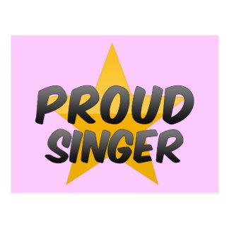 Proud Singer Postcard