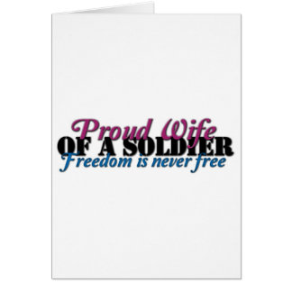 Proud Wife of a Soldier Greeting Card