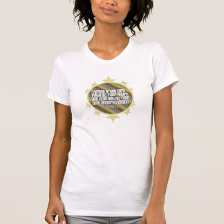 Proverbs 3:5 (Gold) Ladies Spaghetti Top (Fitted) T Shirt