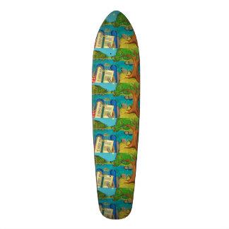 Psalm 1 - Man reads Psalm 1 in Hebrew Bible 21.6 Cm Old School Skateboard Deck