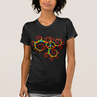 Psychedelic peace symbol. t-shirt