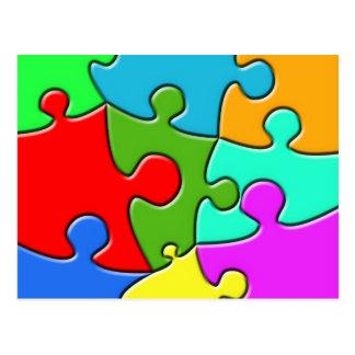 Psychedelic Puzzle Postcard