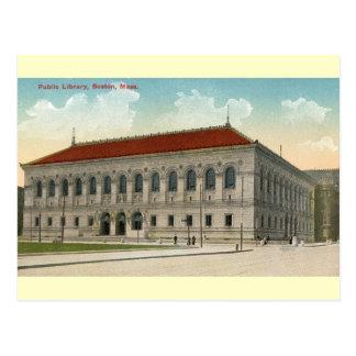 Public Library, Boston 1911 Vintage Postcard
