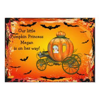 Pumpkin Princess Halloween Girl Baby Shower 13 Cm X 18 Cm Invitation Card